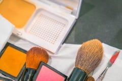 Accesorios del maquillaje Foto de archivo libre de regalías
