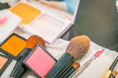 Accesorios del maquillaje Fotografía de archivo libre de regalías