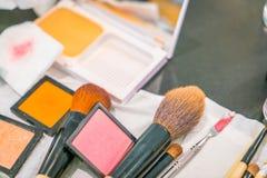 Accesorios del maquillaje Imágenes de archivo libres de regalías