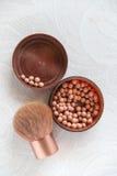 Accesorios del maquillaje Imagen de archivo libre de regalías