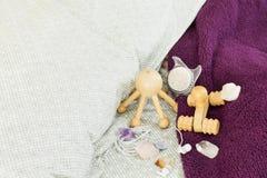 Accesorios del masaje Imagen de archivo libre de regalías