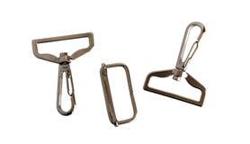 Accesorios del metal de la correa de los bolsos Imagen de archivo libre de regalías