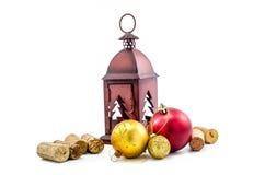 accesorios del ornamento de la Navidad Foto de archivo