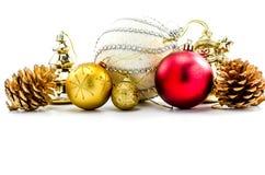 accesorios del ornamento de la Navidad Fotografía de archivo