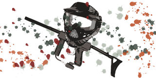 Accesorios del Paintball libre illustration