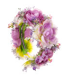 Accesorios del pelo Aro de las flores artificiales belleza Moda Aislado en blanco Fotografía de archivo libre de regalías