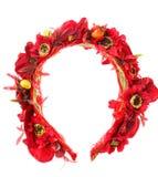 Accesorios del pelo Aro de las flores artificiales belleza Moda Aislado en blanco Fotos de archivo libres de regalías