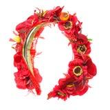 Accesorios del pelo Aro de las flores artificiales belleza Moda Aislado en blanco Foto de archivo