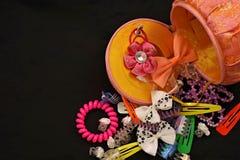 Accesorios del pelo para las muchachas Fotografía de archivo libre de regalías