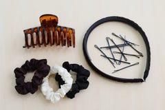 Accesorios del pelo para las mujeres Imágenes de archivo libres de regalías