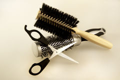 Accesorios del peluquero Imagen de archivo
