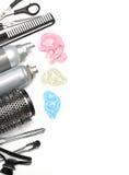 Accesorios del peluquero Imagen de archivo libre de regalías