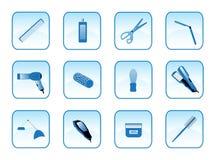 Accesorios del peluquero Fotos de archivo libres de regalías