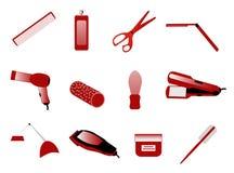 Accesorios del peluquero Imágenes de archivo libres de regalías