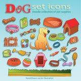 Accesorios del perro Imagen de archivo libre de regalías