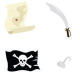 Accesorios del pirata Imagen de archivo libre de regalías