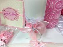 Accesorios del planeamiento de la boda para la novia fotos de archivo libres de regalías