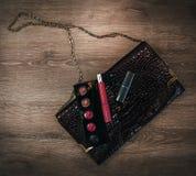 Accesorios del ` s de los cosméticos y de las mujeres Imagenes de archivo