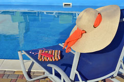 Accesorios del sillón y de la playa Fotos de archivo libres de regalías