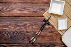Accesorios del sushi Fotografía de archivo libre de regalías