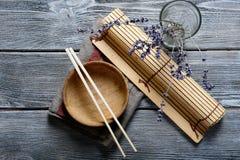 Accesorios del sushi Imagenes de archivo