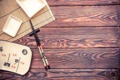 Accesorios del sushi Fotos de archivo libres de regalías