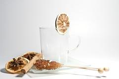Accesorios del té Foto de archivo libre de regalías