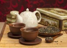 Accesorios del té. Fotos de archivo