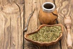Accesorios del té del compañero Fotos de archivo libres de regalías