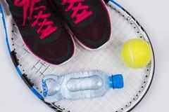 Accesorios del tenis Imagenes de archivo