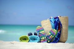 Accesorios del verano Imagen de archivo libre de regalías