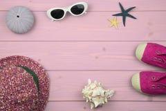 Accesorios del verano de la niña Fotografía de archivo libre de regalías