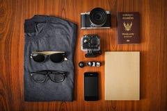 Accesorios del viaje Imagen de archivo libre de regalías