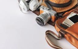 Accesorios del viaje fotografía de archivo