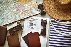 Accesorios del viaje imágenes de archivo libres de regalías