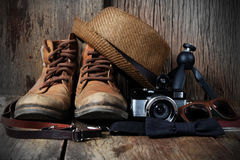 Accesorios del viaje Fotografía de archivo libre de regalías
