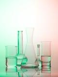 Accesorios del vidrio del laboratorio Fotografía de archivo libre de regalías