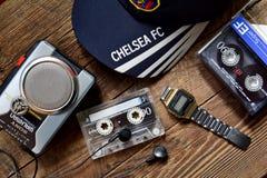 Accesorios del viejo amante de la música, vintage Foto de archivo
