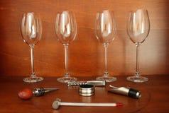 Accesorios del vino Foto de archivo libre de regalías