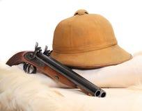 Accesorios del vintage para los cazadores del safari. Fotografía de archivo