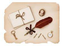 Accesorios del vintage, viejas letras y papel antiguo Fotos de archivo libres de regalías