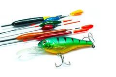 Accesorios del Wobbler y de la pesca Fotografía de archivo