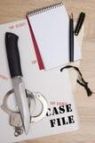 Accesorios detectives Imágenes de archivo libres de regalías