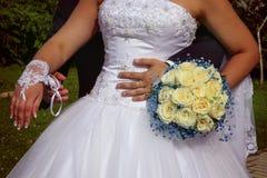 Accesorios dulces de la boda Imagen de archivo