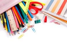 Accesorios educativos coloreados Foto de archivo