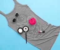Accesorios elegantes de la moda Equipo del partido del diseño Foto de archivo libre de regalías