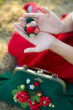 Accesorios elegantes de las lanas hechas a mano Imagen de archivo libre de regalías