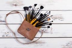 Accesorios elegantes del maquillaje Fotos de archivo libres de regalías
