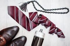 Accesorios elegantes del ` s de los hombres Foto de archivo