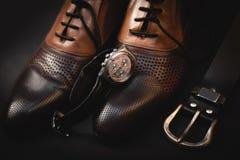 Accesorios elegantes del ` s de los hombres Fotos de archivo libres de regalías